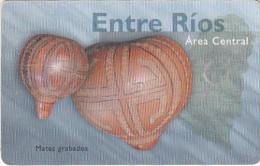 ARGENTINA(chip) - Entre Rios/Mates Grabados, Telefonica Telecard(F 91), Chip GEM1, 11/97, Used - Argentina