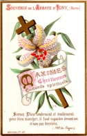 Souvenir De L'Abbaye Notre-Dame D'IGNY (Marne) - Maximes Chrétiennes Conseils Spirituels : Servez Dieu Rondement ... TBE - Devotion Images