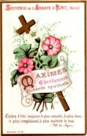 Souvenir De L'Abbaye Notre-Dame D'IGNY (Marne) - Maximes Chrétiennes Conseils Spirituels : Tâchez D'être Toujour ... TBE - Devotion Images