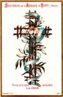 Souvenir De L'Abbaye Notre-Dame D'IGNY (Marne) - Tu N'as Qu'un Appui Sur La Terre, LA CROIX - TBE - Devotion Images