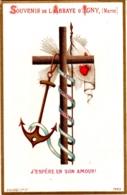 Souvenir De L'Abbaye Notre-Dame D'IGNY (Marne) - J'espère En Son Amour ! - TBE - Devotion Images
