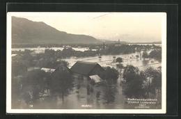 AK Ruggell, Rheindammdurchbruch 1927, Hochwasser - Liechtenstein