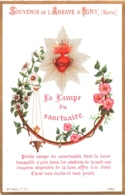 Souvenir De L'Abbaye Notre-Dame D'IGNY (Marne) - La Lampe Du Sanctuaire, Dont La Lueur Tranquille S'unit Dans  ... - TBE - Images Religieuses