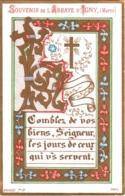 Souvenir De L'Abbaye Notre-Dame D'IGNY (Marne) - Comblez De Vos Biens, Seigneur, Les Jours De Ceux Qui Vous Servent - Devotion Images