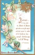 Souvenir De L'Abbaye Notre-Dame D'IGNY (Marne) - Jamais Il N'y Eut Ni Saint Ni Sainte Qui Ait Eu Un Zèle Aussi A ... TBE - Andachtsbilder