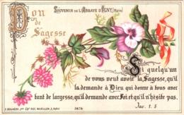 Souvenir De L'Abbaye Notre-Dame D'IGNY (Marne) - Don De Sagesse. Si Quelqu'un De Vous Veut Avoir La Sagesse ... TBE - Andachtsbilder