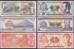Honduras 1,2,5 Lempira Banknoten 2006 UNC    (17883 - Billetes