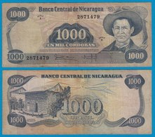 NICARAGUA 1000 CORDOBA 1979 Pick 139  GE/F  Serie E   (18688 - Billetes