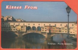 Scheda Telefonica - ITALIA - ITALY - ITALIE - 31.12.2003 - Telecom - Kisses From - Firenze, Ponte Vecchio - Italia