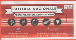 BIGLIETTO - Lotteria Nazionale 2004 - Usato - Biglietti Della Lotteria