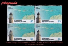 CUBA. BLOQUES DE CUATRO. 2019-25 22 CONFERENCIA DE LA UNIÓN POSTAL DEL CARIBE - Cuba