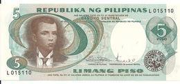 PHILIPPINES 5 PISO ND1969 UNC P 143 B - Filippijnen
