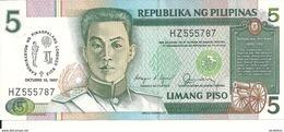 PHILIPPINES 5 PISO 1987 UNC P 176 - Philippines