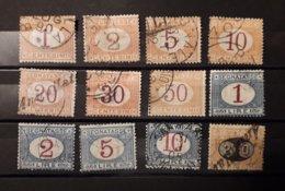 Italia Regno 1870-1890 Lotto Segnatasse 12 Valori Usati - 1878-00 Humbert I.
