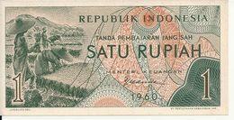 INDONESIE 1 RUPIAH 1960 UNC P 76 - Indonesia