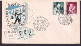 España - 1953 - Cachets Spéciaux - II Congrès Mondial De L'Illusionnisme - FDC
