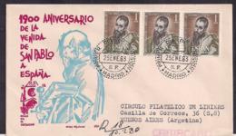 España - 1963 - Cachets Spéciaux - 1900 Anniversaire De L'arrivée De Saint Paul En Espagne - FDC
