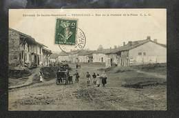 51 - VERRIERES - Rue De La Perrière Et La Place ,#51/012 - Autres Communes