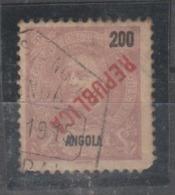 ANGOLA CE AFINSA 163 -  SOBRECARGA A VERMELHO E INVERTIDA - Angola