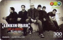 TAILANDIA. MUSICA - CANTANTES. Linkin Park 1/5. 4428. 300 ฿. 12/2006. TH-12Call-0436. (025) - Music