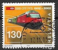 SVIZZERA 2002 FERROVIE FEDERALI SVIZZERE UNIF. 1709 USATO VF - Svizzera