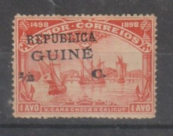 GUINE CE AFINSA 130 -  NOVO COM CHARNEIRA (SOBRECARGA DESLOCADA) - Guinea Portuguesa