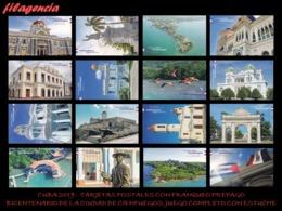 CUBA. ENTEROS POSTALES. TARJETA POSTAL FRANQUEO PREPAGO. SERIE COMPLETA. 2019 200 AÑOS CIUDAD DE CIENFUEGOS. CON ESTUCHE - Cuba