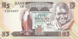 ZAMBIE 5 KWACHA ND1980-88 AUNC P 25 C - Zambia
