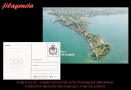 CUBA. ENTEROS POSTALES. TARJETA POSTAL FRANQUEO PREPAGO. 2019 CIENFUEGOS. PUNTA GORDA - Cuba