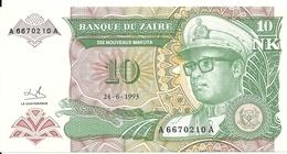 ZAIRE 10 NOUVEAUX MAKUTA 1993 UNC P 49 - Zaire