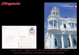 CUBA. ENTEROS POSTALES. TARJETA POSTAL FRANQUEO PREPAGO. 2019 CIENFUEGOS. PALACIO FERRER - Cuba