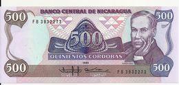 NICARAGUA 500 CORDOBAS 1985 UNC P 155 - Nicaragua