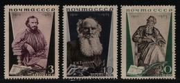 Russia / Sowjetunion 1935 - Mi-Nr. 536-538 A * - MH - Lew Tolstoj - Unused Stamps