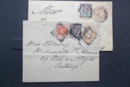 Great Britain: 2 X 1896 Cover To Germany, Etc. (#VU7) - 1840-1901 (Viktoria)