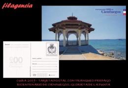 CUBA. ENTEROS POSTALES. TARJETA POSTAL FRANQUEO PREPAGO. 2019 CIENFUEGOS. GLORIETA DE PUNTA GORDA - Cuba