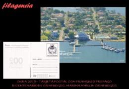CUBA. ENTEROS POSTALES. TARJETA POSTAL FRANQUEO PREPAGO. 2019 CIENFUEGOS. CLUB NÁUTICO & MARINA MARLIN DE CIENFUEGOS - Cuba