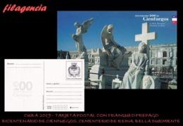 CUBA. ENTEROS POSTALES. TARJETA POSTAL FRANQUEO PREPAGO. 2019 CIENFUEGOS. LA BELLA DURMIENTE. CEMENTERIO DE REINA - Cuba