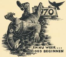 Nieuwjaarskaart 1970 - Gustaaf De Bruyne (1914-1981) - Stiche & Gravuren
