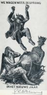Nieuwjaarskaart 1975 - Gustaaf De Bruyne (1914-1981) Gesigneerd - Stiche & Gravuren