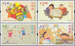 Hong Kong 1172-1175 Block Of Four (complete Issue) Unmounted Mint / Never Hinged 2004 Kids Games - 1997-... Chinese Admnistrative Region