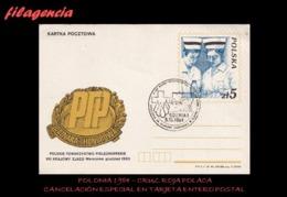 EUROPA. POLONIA. ENTEROS POSTALES. MATASELLO ESPECIAL 1984. CRUZ ROJA POLACA - Otros