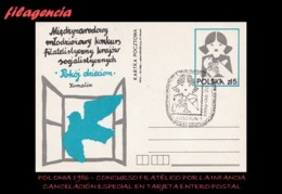 EUROPA. POLONIA. ENTEROS POSTALES. MATASELLO ESPECIAL 1986. CONCURSO FILATÉLICO POR LA INFANCIA - Otros