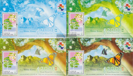 Hong Kong Block88-Block91 (complete Issue) Unmounted Mint / Never Hinged 2001 Schima-Tree - 1997-... Chinese Admnistrative Region