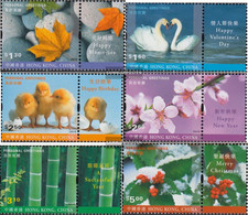 Hong Kong 974Zf-979Zf With Zierfeld (complete Issue) Unmounted Mint / Never Hinged 2001 Grußmarken - 1997-... Chinese Admnistrative Region