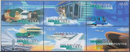 Hong Kong 843-848 Six Block (complete Issue) Unmounted Mint / Never Hinged 1998 Opening Airport Check Lap Kok - 1997-... Chinese Admnistrative Region