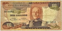 Angola - 100 Escudos - 24.11.1972 - Pick 101 - Série AB - Marechal Carmona - PORTUGAL - Angola