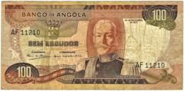 Angola - 100 Escudos - 24.11.1972 - Pick 101 - Série AF - Marechal Carmona - PORTUGAL - Angola