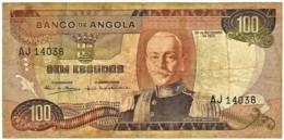 Angola - 100 Escudos - 24.11.1972 - Pick 101 - Série AJ - Marechal Carmona - PORTUGAL - Angola