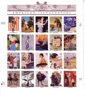 USA MI-NR. 3405-3424 POSTFRISCH(MINT) KLEINBOGEN AMERICAN ILLISTRATORS - Hojas Bloque