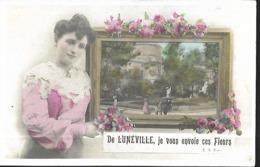 De  Lunéville Je Vous Envoie Ces Fleurs      CPA 1907 - Luneville
